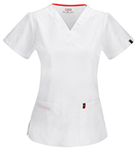 Code Happy V-Neck Top White (46607A-WHCH)