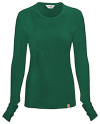 Code Happy Long Sleeve Underscrub Knit Tee Hunter Green (46608A-HNCH)