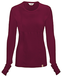 Code Happy Long Sleeve Underscrub Knit Tee Wine (46608A-WICH)