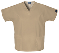 Cherokee Workwear V-Neck Top Dark Khaki (4700-DKAW)