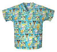 Scrub HQ V-Neck Top Pet Shop Boys (4700-PBOY)