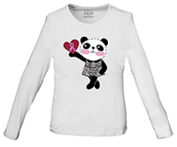 Cherokee Workwear Little Miss Panda Long Sleeve Knit Tee Little Miss Panda (4709-MIPA)