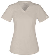 Cherokee Workwear V-Neck Top Khaki (4710-KAKW)