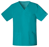 Cherokee Workwear Unisex V-Neck Top Teal Blue (4725-TLBW)
