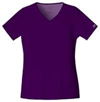 Cherokee Workwear V-Neck Top Eggplant (4727-EGGW)