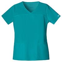 Cherokee Workwear V-Neck Top Teal Blue (4727-TLBW)