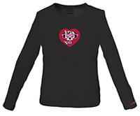 Cherokee Workwear Spotty Dotty Underscrub Knit Tee Black (4737-BLKW)