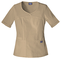 Cherokee Workwear V-Neck Top Dark Khaki (4746-DKAW)