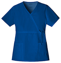 Cherokee Workwear Mock Wrap Top Galaxy Blue (4748-GABW)