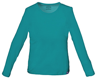 Cherokee Workwear Long Sleeve Underscrub Knit Tee Teal Blue (4818-TLBW)