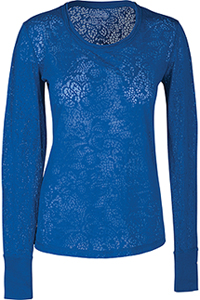 Cherokee Workwear Long Sleeve Underscrub Knit Tee Royal (4823-ROYW)