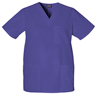 Cherokee Workwear Unisex V-Neck Top Grape (4876-GRPW)