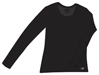 Cherokee Workwear Long Sleeve Underscrub Knit Tee Black (4975-BAPS)