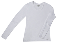 Long Sleeve Underscrub Knit Tee White (4975-WTPS)