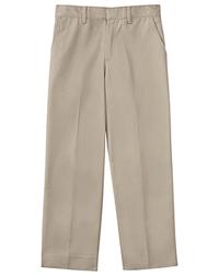 Classroom Uniforms Boys Slim Adj. Waist Flat Front Pant Khaki (50362S-KAK)