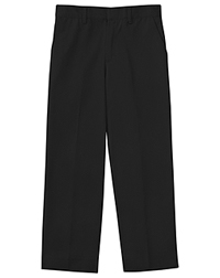 Classroom Uniforms Men's Flat Front Pant 30 Inseam Black (50364S-BLK)