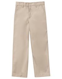 Classroom Uniforms Preschool Unisex Flat Front Pant Khaki (50400-KAK)