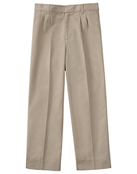 Classroom Uniforms Boys Husky Pleat Front Pant Khaki (50773-KAK)