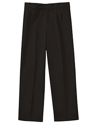 Classroom Uniforms Men's Pleat Front Pant 30 Inseam Black (50774S-BLK)