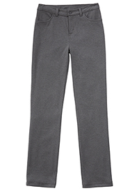 Classroom Uniforms Girls Ponte Tapered Leg Pant Heather Gray (51141AZ-HGRY)