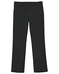 Classroom Uniforms Girls Plus Stretch Matchstick Leg Pant Black (51283A-BLK)