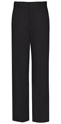 Classroom Uniforms Flat Front Slim Elastic Trouser Pant Black (51942SE-BLK)