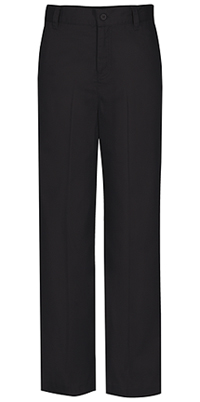 Classroom Uniforms Girls Slim Adj. Flat Front Trouser Black (51942S-BLK)