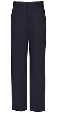 Classroom Uniforms Girls Slim Adj. Flat Front Trouser Dark Navy (51942S-DNVY)
