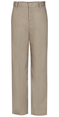 Classroom Uniforms Girls Slim Adj. Flat Front Trouser Khaki (51942S-KAK)