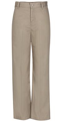 Classroom Uniforms Girls Adj. Waist Flat Front Trouser Khaki (51942-KAK)