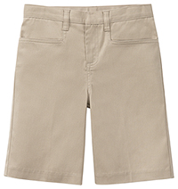 Classroom Uniforms Girls Stretch Low Rise Short Khaki (52071AZ-KAK)