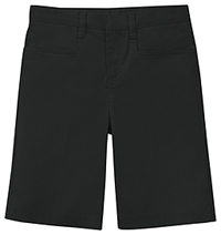 Classroom Uniforms Girls Adj. Waist Stretch Low Rise Short Black (52073AZ-BLK)