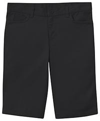 Classroom Uniforms Girls Adj. Matchstick Narrow Leg Short Black (52221A-BLK)