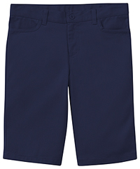 Classroom Uniforms Girls Adj. Stretch Matchstick Short Dark Navy (52222-DNVY)