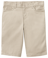 Girls Adj. Stretch Matchstick Short Khaki (52222-KAK)