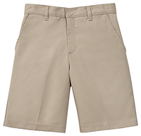 Boys Adj. Waist Flat Front Short