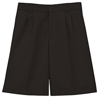 Classroom Uniforms Men's Pleat Front Short Black (52774-BLK)
