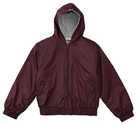 Classroom Uniforms Adult Unisex Zip Front Bomber Jacket Burgundy (53404-BUR)