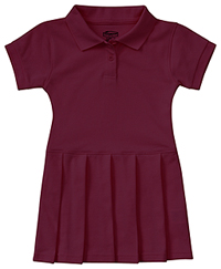 Classroom Uniforms Toddler S/S Pique Polo Dres Burgundy (54120-BUR)