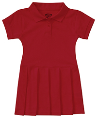 Classroom Uniforms Toddler S/S Pique Polo Dres Red (54120-RED)