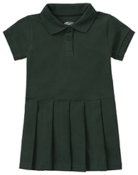 Classroom Uniforms Preschool Pique Polo Dress SS Hunter Green (54120-SSHN)