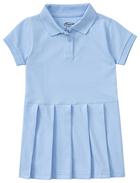 Classroom Uniforms Preschool Pique Polo Dress SS Light Blue (54120-SSLB)