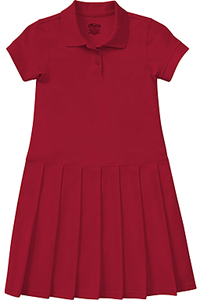 Classroom Uniforms Girls Pique Polo Dress Red (54121-RED)