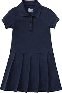 Classroom Uniforms Girl's S/S Pique Polo Dress Dark Navy (54122-DNVY)