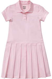 Classroom Girl's S/S Pique Polo Dress (54122-PINK) (54122-PINK)