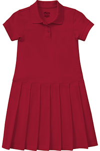 Classroom Girl's S/S Pique Polo Dress (54122-RED) (54122-RED)