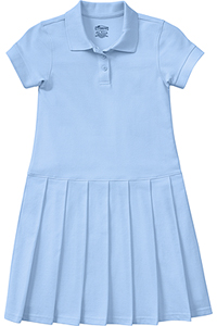 Classroom Uniforms Girl's S/S Pique Polo Dress SS Light Blue (54122-SSLB)