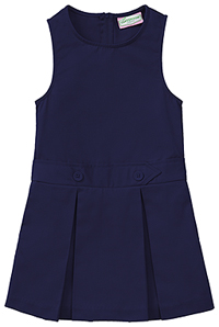 Classroom Uniforms Girls Kick Pleat Jumper Dark Navy (54451-DNVY)