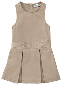 Classroom Uniforms Girls Plus Kick Pleat Jumper Khaki (54453-KAK)