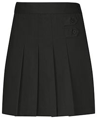 Classroom Uniforms Girls Stretch Pleated Tab Scooter Black (55121AZ-BLK)